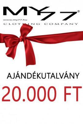 My77 Ajándékutalvány 20000 Ft-